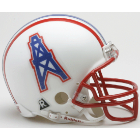 Houston Oilers Riddell VSR-4 Throwback 81-96 Mini Football Helmet