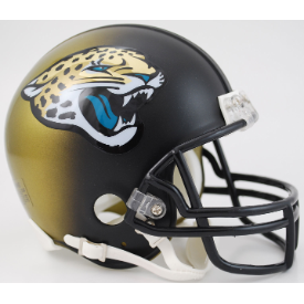 Jacksonville Jaguars Throwback 13-17 Riddell VSR-4 Mini Football Helmet ***DISCONTINUED***