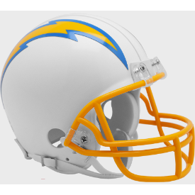 Los Angeles Chargers Riddell VSR-4 Mini Football Helmet ***New for 2020***