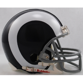 Los Angeles Rams Riddell VSR-4 Throwback 65-72 Mini Football Helmet
