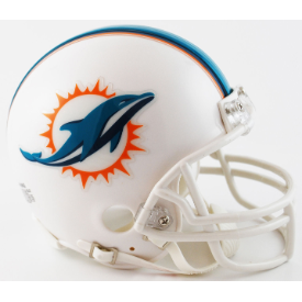Miami Dolphins Throwback 13-17 Riddell VSR-4 Mini Football Helmet  ***DISCONTINUED***