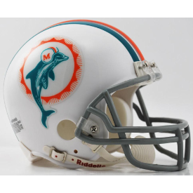 Miami Dolphins Riddell VSR-4 Throwback 72 Mini Football Helmet
