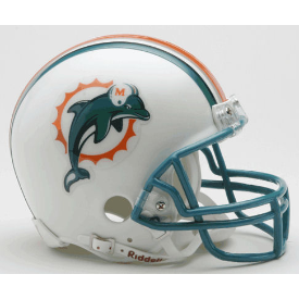 Miami Dolphins Riddell VSR-4 Throwback 97-12 Mini Football Helmet