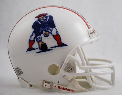 New England Patriots Riddell VSR-4 Throwback 82-89 Mini Football Helmet