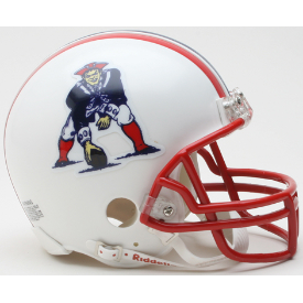 New England Patriots Riddell VSR-4 Throwback 90-92 Mini Football Helmet