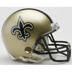 New Orleans Saints Riddell VSR-4 Mini Football Helmet