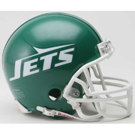 New York Jets Riddell VSR-4 Throwback 78-89 Mini Football Helmet