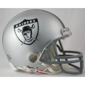 Oakland Raiders Riddell VSR-4 Throwback 1963 Mini Football Helmet