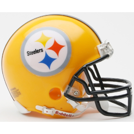 Pittsburgh Steelers Riddell VSR-4 62 Throwback 75th Anniversary Mini Football Helmet