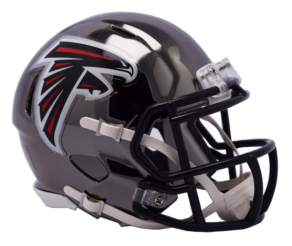 Atlanta Falcons CHROME Riddell Speed Authentic Full Size Football Helmet  ***PRE ORDER ONLY***