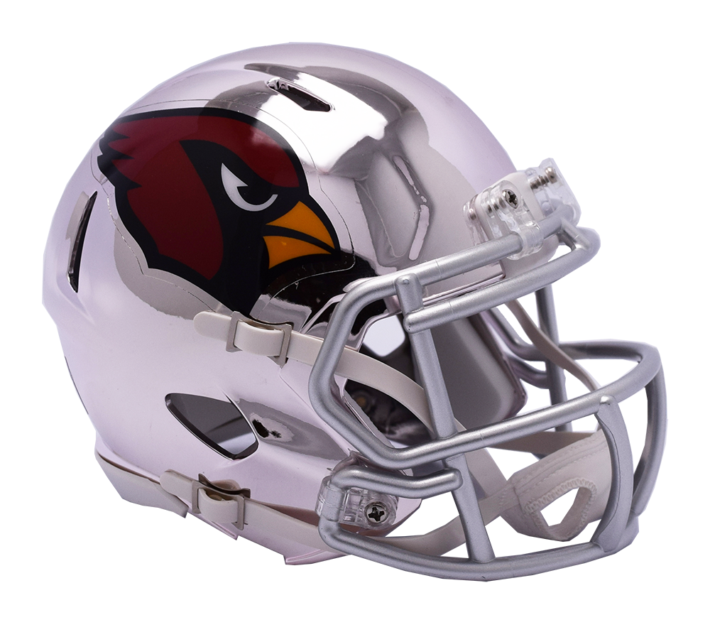 Arizona Cardinals CHROME Riddell Speed Authentic Full Size Football Helmet  ***PRE ORDER ONLY***