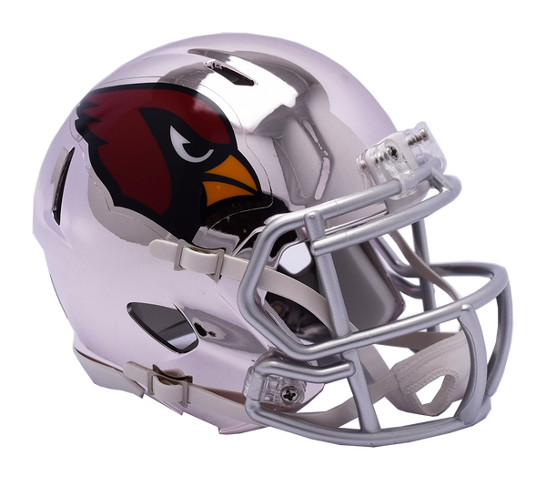 7221eb9a229 Sold Out Arizona Cardinals CHROME Riddell Speed Mini Football Helmet ...