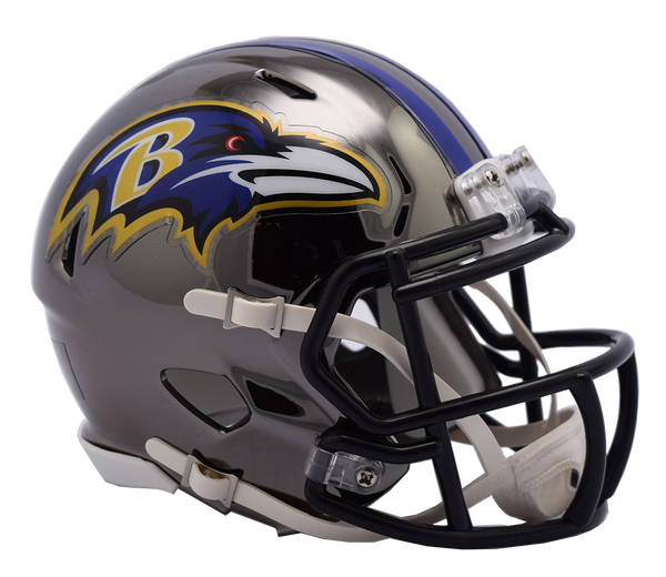 Baltimore Ravens CHROME Riddell Speed Replica Full Size Football Helmet  *** PRE ORDER ONLY***