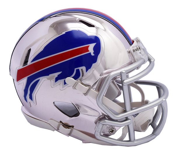 Buffalo Bills CHROME Riddell Speed Mini Football Helmet