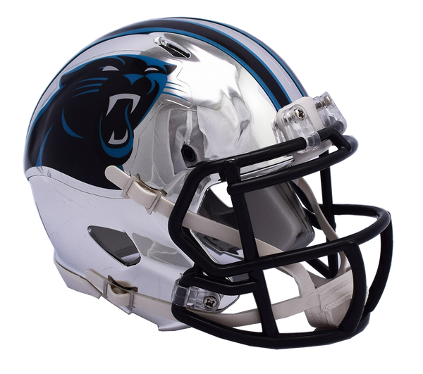 Carolina Panthers CHROME Riddell Speed Mini Football Helmet ***PRE ORDER ONLY***