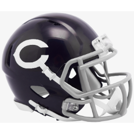 Chicago Bears 60 Classic Riddell Speed Mini Football Helmet