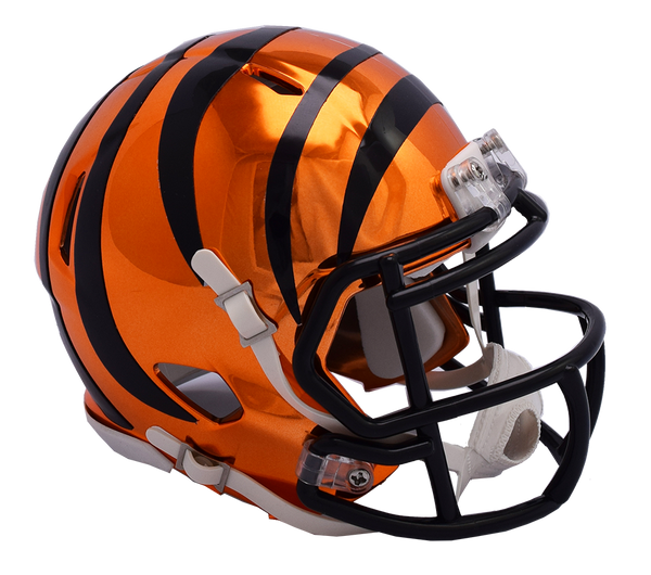 Cincinnati Bengals CHROME Riddell Speed Mini Football Helmet
