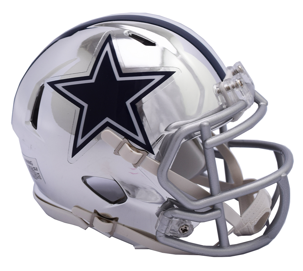 Dallas Cowboys CHROME Riddell Speed Mini Football Helmet