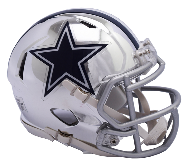 Dallas Cowboys CHROME Riddell Speed Replica Full Size Football Helmet