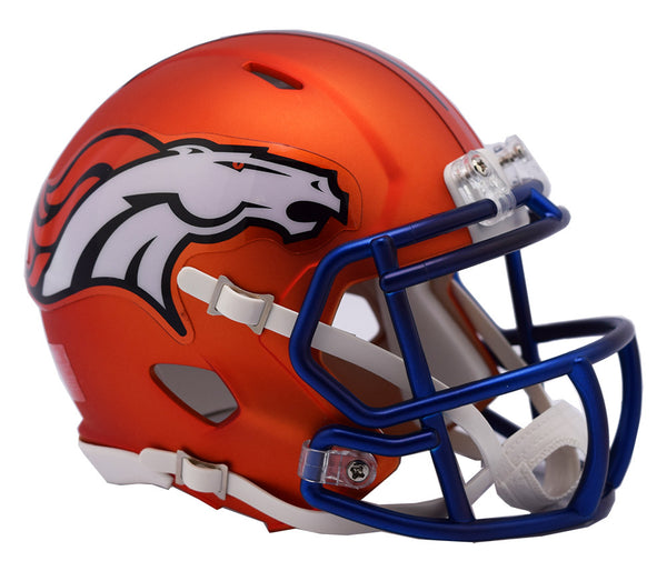 Denver Broncos BLAZE Riddell Speed Mini Football Helmet  ***DISCONTINUED***