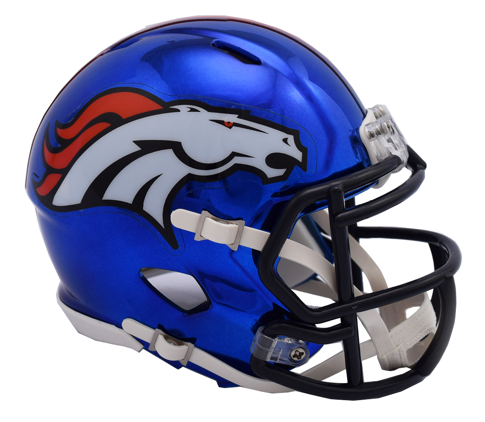 Denver Broncos CHROME Riddell Speed Mini Football Helmet