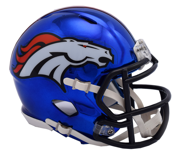 denver broncos chrome riddell speed mini football helmet helmetnation