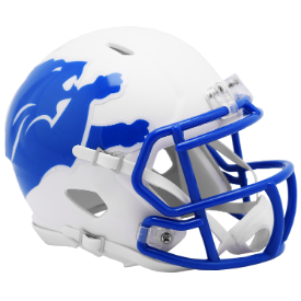 Detroit Lions Riddell Speed AMP Mini Football Helmet