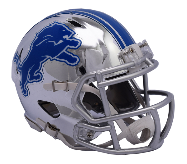 Detroit Lions CHROME Riddell Speed Replica Full Size Football Helmet