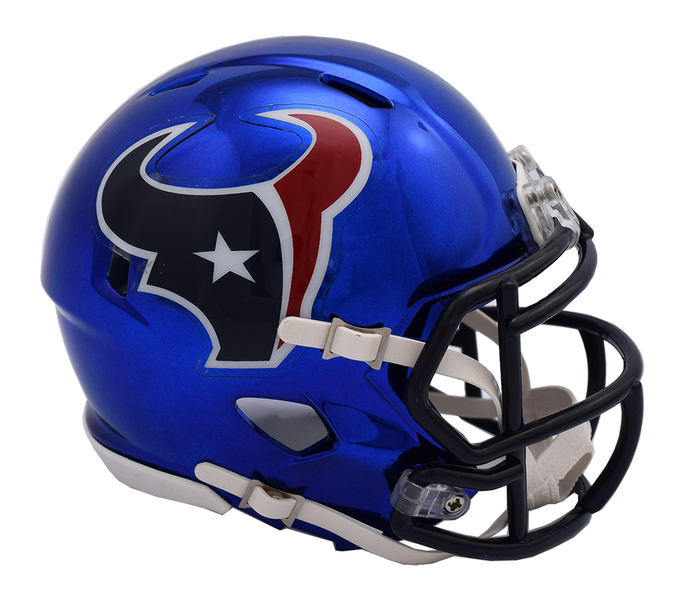 Houston Texans CHROME Riddell Speed Replica Full Size Football Helmet  7a670b6f0