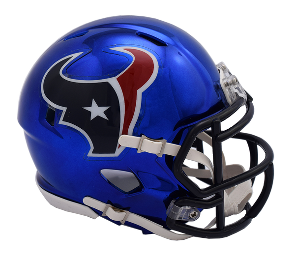 Houston Texans CHROME Riddell Speed Replica Full Size Football Helmet  *** PRE ORDER ONLY***