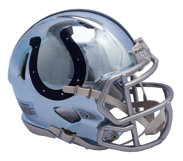 Indianapolis Colts CHROME Riddell Speed Mini Football Helmet