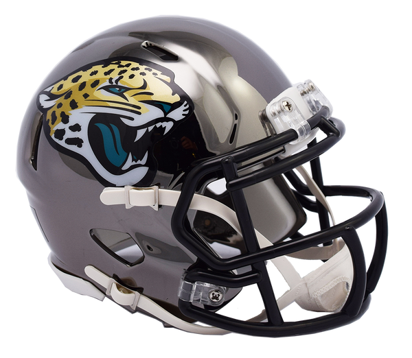 839fad014d5 Jacksonville Jaguars CHROME Riddell Speed Mini Football Helmet ...