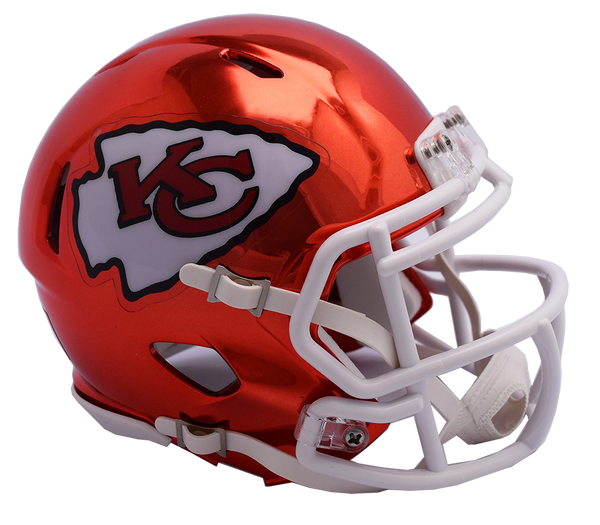 Kansas City Chiefs CHROME Riddell Speed Authentic Full Size Football Helmet  ***PRE ORDER ONLY***