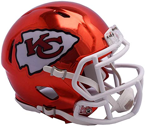 Kansas City Chiefs CHROME Riddell Speed Mini Football Helmet