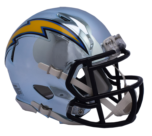 Los Angeles Chargers CHROME Riddell Speed Authentic Full Size Football Helmet