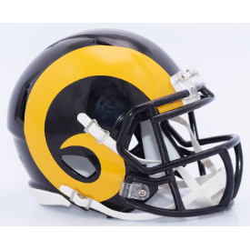 Los Angeles Rams Yellow Horn Riddell Speed Mini Football Helmet