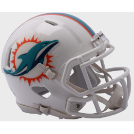 Miami Dolphins Riddell Speed Mini Football Helmet