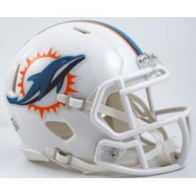 Miami Dolphins Throwback 13-17 Riddell Speed Mini Football Helmet