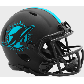 Miami Dolphins Riddell Speed ECLIPSE Mini Football Helmet