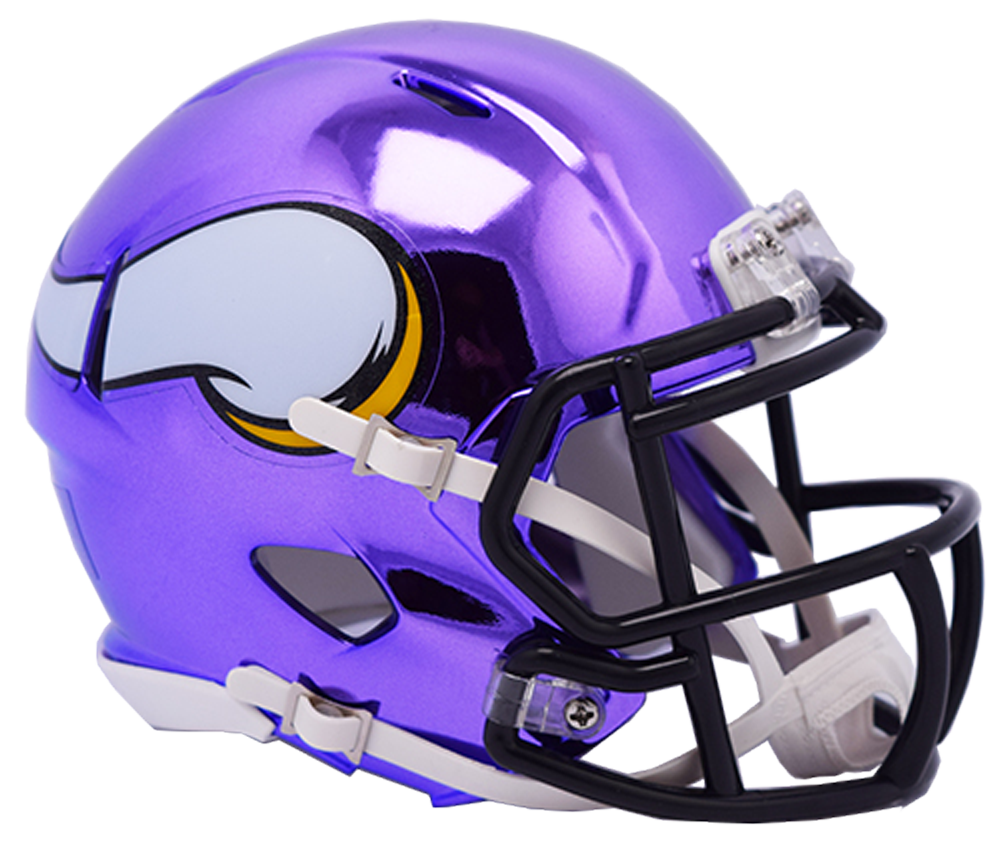 Minnesota Vikings CHROME Riddell Speed Mini Football Helmet
