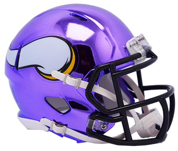 Minnesota Vikings CHROME Riddell Speed Replica Full Size Football Helmet  *** PRE ORDER ONLY***