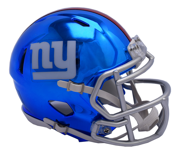 New York Giants CHROME Riddell Speed Replica Full Size Football Helmet
