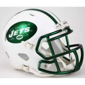 New York Jets Chrome Mask Riddell Speed Mini Football Helmet