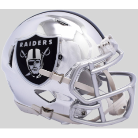Oakland Raiders CHROME Riddell Speed Mini Football Helmet