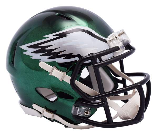 Philadelphia Eagles CHROME Riddell Speed Mini Football Helmet