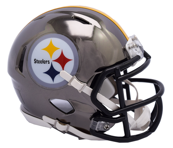 Pittsburgh Steelers CHROME Riddell Speed Authentic Full Size Football Helmet  ***PRE ORDER ONLY***