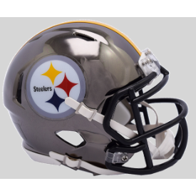 Pittsburgh Steelers CHROME Riddell Speed Mini Football Helmet