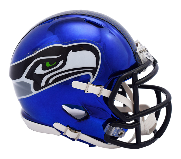 Seattle Seahawks CHROME Riddell Speed Mini Football Helmet