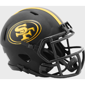San Francisco 49ers Riddell Speed ECLIPSE Mini Football Helmet