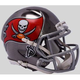 Tampa Bay Buccaneers CHROME Riddell Speed Mini Football Helmet